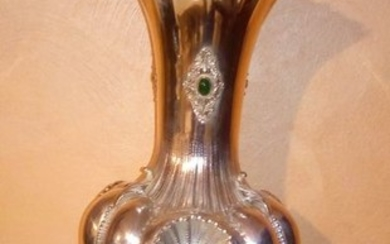 large vase - .800 silver - Italy - First half 20th century