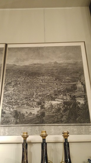 Vasi Giuseppe, Prospect of the city of Rome from the Monte Gianicolo